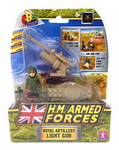 Character Building H.M. Armed Forces Set: ROYAL ARTILLERY LIGHT GUN- NEW